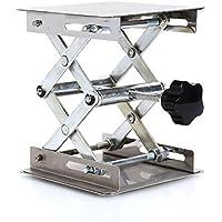 """4x 4""""científico laboratorio laboratorio laboratorio de acero inoxidable Scissor Jack, elevación plataforma soporte rack Scissor Lab-Lift elevador manual Control"""