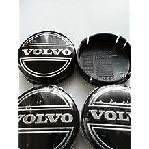 4 x 64 mm negro centro de rueda Caps de aleación de Volvo C30 C70 S40