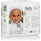 Naty By Nature Babycare - Pañales desechables. talla 4 (15-40 Lbs/7-18 Kg), 4 x 27 unidades (108 pañales)