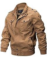 YunYoud Giacca Invernale da Uomo Cool Giacca Militare Giacca Tattica Leggera e Traspirante Abbigliamento Materiale Super Resistente per Creare Un Caldo Inverno. (L, Cachi)