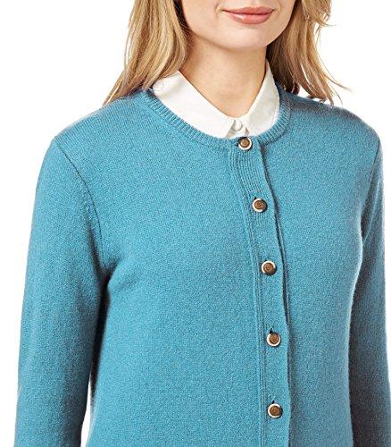 WoolOvers Cardigan à col rond - Femme - Laine d'agneau Soft Turquoise