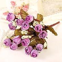 Flores Artificiales Decoración Floral Ramo De Flores De Rosas Boda Restaurante De Decoración,Flor Violeta