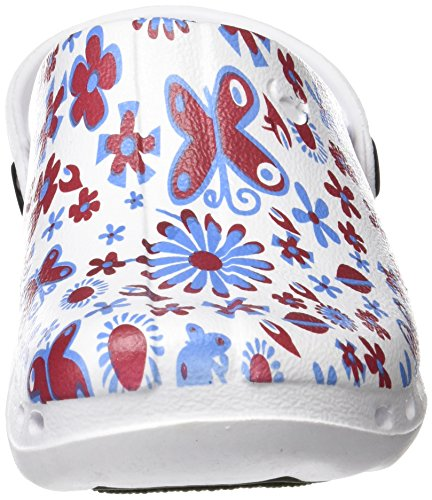 Suecos® Oden Print, Sabots de Travail Mixte Adulte, Rose Multicolore (Midsummer 14)