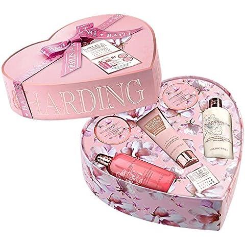 Baylis y Harding Pink Magnolia y la flor de la pera grande del corazón Box Set