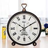 ZHANGDAWEI Kreative gartenglocke Uhr Uhr Retro persönlichkeit Uhr Uhr quarzuhr 10 Zoll (Durchmesser 25,5 cm) schwarz Gold (römische ziffern)