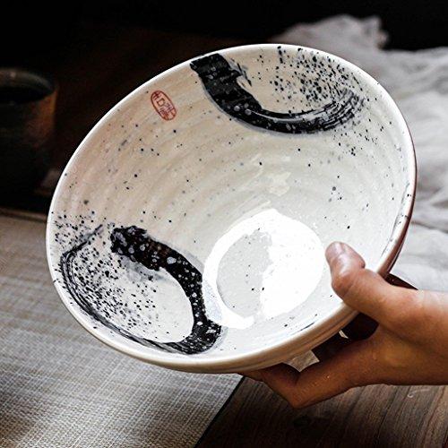 Gweat Ciotola Di Zuppa Di Ramen Profonda Di Personalità Della Ciotola Della Ciotola Di Insalata Ceramica Creativa Di Stile Giapponese (Colore : 1)