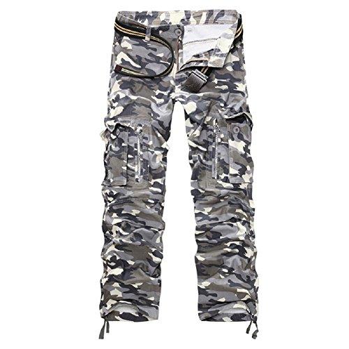 AYG Herren Cargo Hose, Armee Camouflage, 52