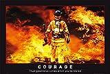 Poster Courage pompier (91,5cm x 61cm) + un poster surprise en cadeau!
