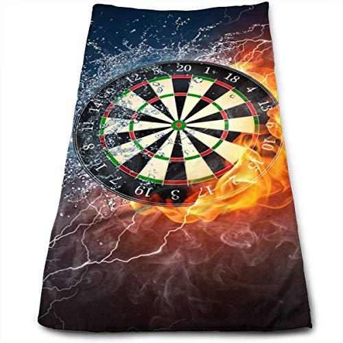 QuGujun Turkish Bath Towels Dart Board Target Ice Fire Super Soft Absorbent Sports/Beach/Shower/Pool Towel