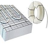 100m² doitBau Fußbodenheizung TAC system Set Warmwasser Rolljet Tacker Dämmung