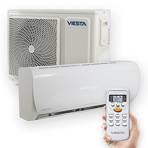 Viesta Klimaanlage AC12 energiesparendes Klima Splitgerät - 12000 BTU für Räume bis 45qm - angenehm leise (30~40 db)...