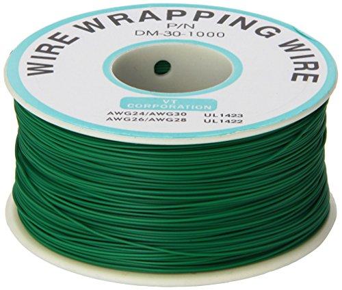sourcingmap-saldare-pcb-verde-flessibile-025-millimetri-di-diametro-filo-di-rame-awg-30-wrap-wrappin