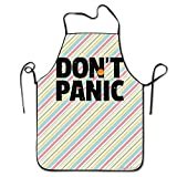 Xdevrbk Funny Don't Panic Kitchen Cooking Apron