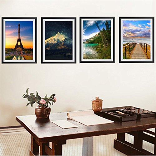 Weaeo Landschaft Foto Frame Wand Aufkleber Aufkleber Kunst Zimmer Office Home Dekorationen Diy-Pvc Aufkleber Kinder Geschenk