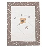 Alvi Krabbeldecke Spieldecke 100 x 135 Applikation, Design:Little bear beige