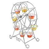 CAN_Deal Riesenrad für Cupcakes / Muffins / Törtchen, Eisen, 8 Halterungen, Dekoration für Hochzeiten und Partys