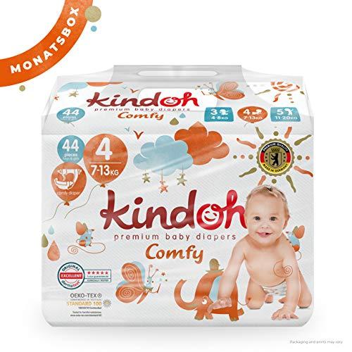 Kindoh Comfy Windeln Maxi - MONATSBOX - 132 Stück (Größe 4)