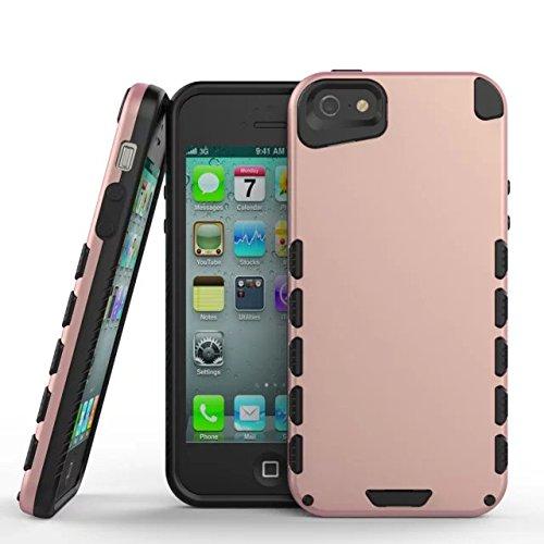 iPhone 5 cas,iPhone 5S Case,Lantier Hard Case belle mignonne comme Bear TPU [Slim Thin] [antichoc] [Dritproof] [Scratch Résistance] 2 en 1 Super Cover Etui Defender pour Apple iPhone 5 / 5s Deep Blue Pink
