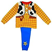 Disney Boys Toy Story Woody Cowboy Costume Novelty Pyjamas Sizes from 18 Months to 6 Years