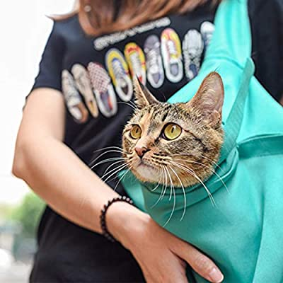 Ohhome Pet Outdoor Travel Sling Carrier For Puppy, Cats, Hands Free Shoulder Pet Pouch And Tote from Ohhome