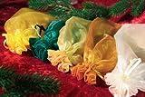 Zanderino Organza Geschenkbeutel 3er Pack, Farbe 20, gelb