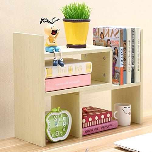 Da Jia Inc ajustable de madera organizador de almacenamiento de escritorio simple estante de exhibición estantería accesorio de oficina oferta soporte