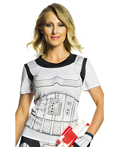 Star Stormtrooper Womens Kostüm Wars - Rubies Star Wars Womens Stormtrooper Rhinestone Costume Top L