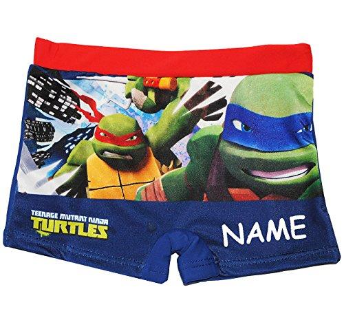 alles-meine.de GmbH Badehose / Badeshorts -  Teenage Mutant Ninja Turtles  - incl. Name - Größe 2 bis 3 Jahre - Gr. 98 bis 104 - für Jungen Kinder Badepants - Boxershorts Short..