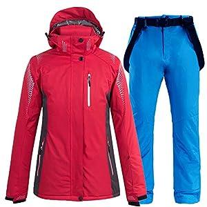 Ddl Skianzug 2-teiliges Winter Ski-Anzug Wasserdicht Snowboarding Overall Snowsuit Nehmen Verdickung warme Jacke/Schnee Trägerhose