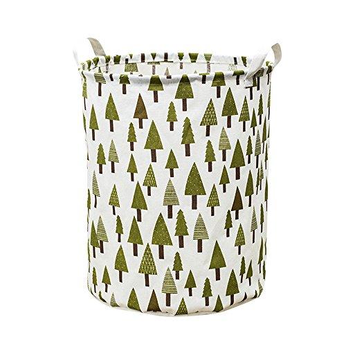 Zusammenklappbar Bettwäsche Lagerung (Serria® Ablagekörbe, zusammenklappbarer wasserdichter Wäschekorb-Eimer des Segeltuch-42L mit Griffen für Badezimmer Schlafsaal oder Wäscherei)
