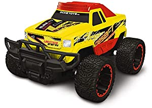 Dickie Toys 201119144 Desert Supreme - Coche teledirigido (Listo para Conducir, 8 km/h, 2,4 GHz, Ajuste de precisión), Color Amarillo y Rojo