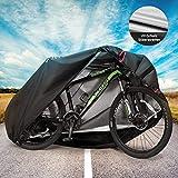 MOVTOTOP Fahrradabdeckung, Fahrradplane Wasserdicht für Aufbewahrung im Freien, 29'' Heavy Duty 210D Oxford Fahrradgarage für den Außenbereich, Schutz vor Regen UV-Schnee-Staub