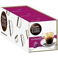 NESCAFÉ Dolce Gusto Espresso   48 Kaffeekapseln   100% edle Arabica Bohnen   Charaktervoller Espresso   Fruchtige Granatapfelnote   Samtige Crema   Aromaversiegelte Kapseln   3er Pack (3 x 16 Kapseln)