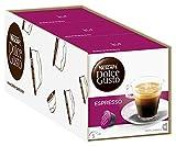 NESCAFÉ Dolce Gusto Espresso | Kaffeekapseln | 100% edle Arabica Bohnen | Charaktervoller Espresso | Fruchtige Granatapfelnote | Samtige Crema | Aromaversiegelte Kapseln | 3er Pack (48 Kapseln) 288g