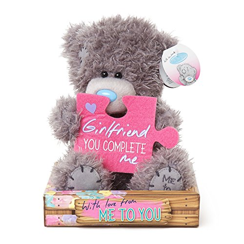Me To You SG01W4093 6-Inch Tall Tatty Teddy with Girlfriend jigsaw Piece Bear Sits Plush Toy