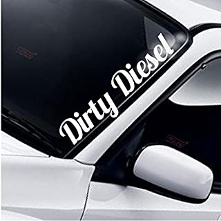 Dirty Diesel Windschutzscheibe Aufkleber Heckscheibe Static AutoAufkleber Stance Low Lowered Slammed DUB 4x4 AWD Off Road Truck Tuning Frontscheibenaufkleber Frontscheibe Sticker Decal