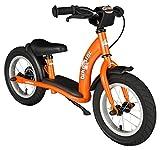 BIKESTAR Laufrad für Kinder im Alter von 3 Jahren, mit Luftreifen und Bremsen, 30,5 cm, Klassische Edition, Orange