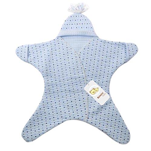 Mainaisi Neugeborenen Kind Wickelbrett Decke wickeln Buggy Babyschlafsack, 80X90CM