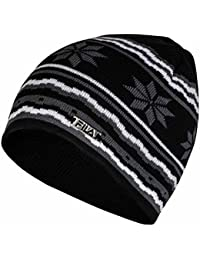 Fila Beanie Hat, Unisex/Mens/Womens, Striped, One Size, Snowflake Christmas
