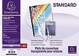EXACOMPTA 42745E - Une Boite de  100 couvertures transparentes en PVC 29,7x42 cm couleur CRISTAL 20/100ème