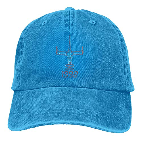Kostüm Bebop - EUBACS Adjustable Bebop Cowboy Cotton Ball Hat Campaign Cap Comfortable and Breathable Blue