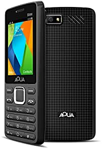 Aqua Shine - 2100 mAh Battery - Dual SIM Basic Mobile Phone - Black