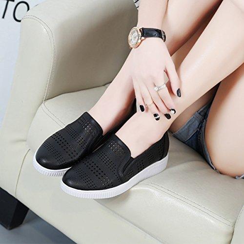 Mocassin femme flâneur passant loafers basket mode maille respirant confortable Noir