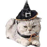 Sombrero de Mascota, Legendog Sombrero de Bruja de Mascotas Sombrero Ajustable de Bruja de Halloween