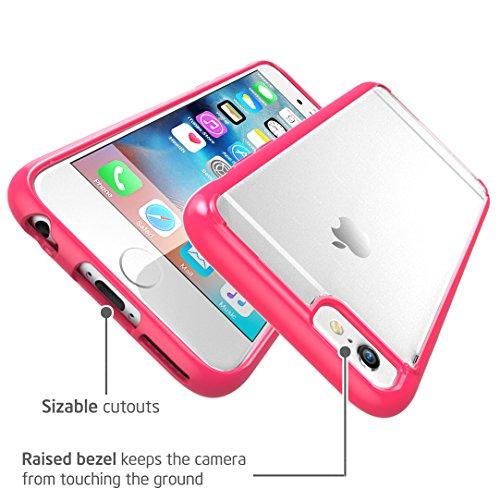 Apple iPhone 6 / 6S Plus (5.5 Zoll) Hülle, i-Blason [Halo Serie] Case, transparente kratzfeste Schutzhülle / Cover durchsichtig / rot