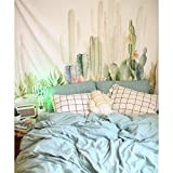 Jeteven Tropical Desert Sunshine Cactus Tapestry Wall Hanging Mandala Indian Tapestries Hippie Print Tapestry Picnic Beach Sheet Table Cloth 150 x 200 cm D