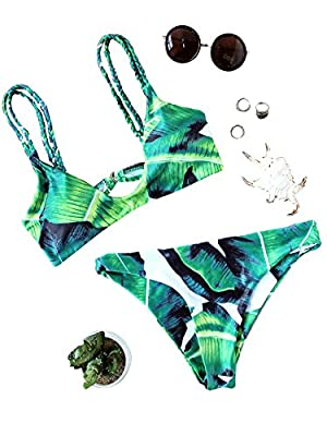 Bikini Con Estampado Tropical