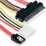 S-ATA 22-Pin Kombo |15-Pin Power + 7-Pin Datenkabel 4 Pin Molex / IDE | Serial ATA Lead Y-Adapter | Adapterlösung für HDD / Festplatten mit 4Pin Molex IDE – MOVOJA