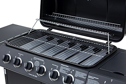 El Fuego Gasgrill, Dayton 6 Plus 1, schwarz, 54 x 133 x 97 cm, AY4601 - 6