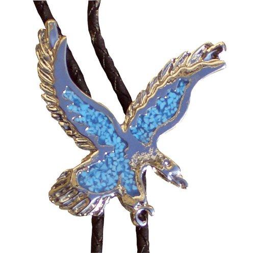Reitsport Amesbichler Bolo Tie, Nickel/türkis Western Cowboy Krawatte Bolotie Westernkrawatte Westernschmuck Halsband Lederband